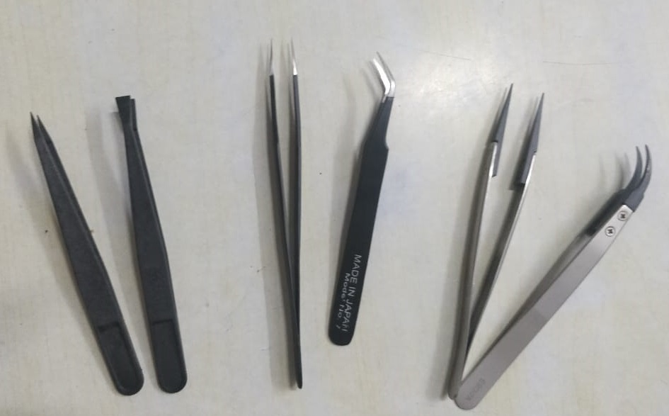ESD Tweezers ( Metal /Plastic and Mix